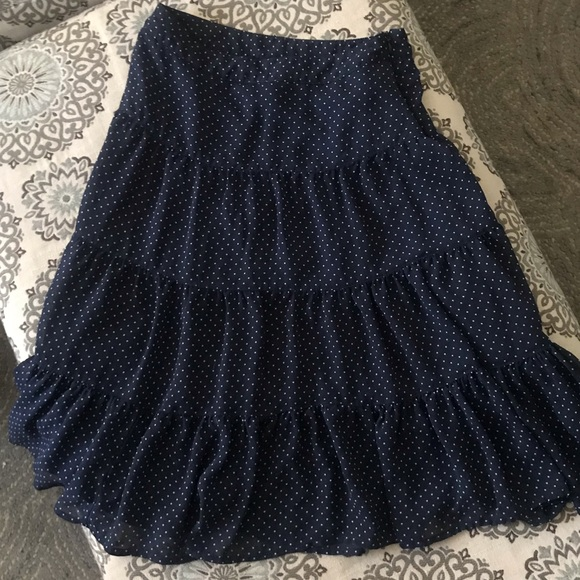 George Dresses & Skirts - Women's Navy and White Polka Dots Skirt